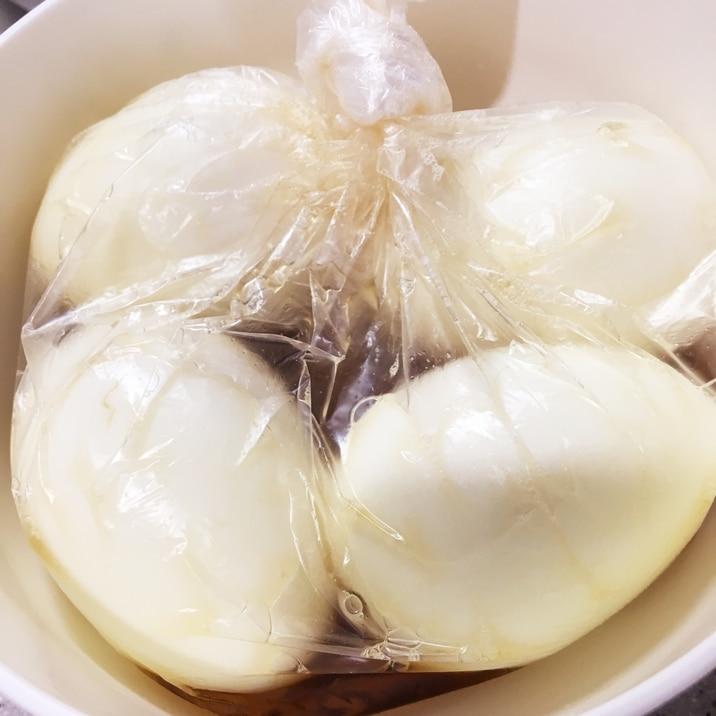 納豆のタレの消費に-簡単味玉-