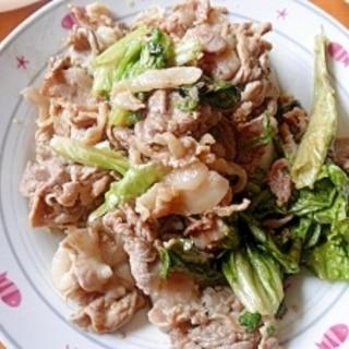 豚肉とレタスの甘辛炒め