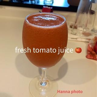 冷凍トマトでフレッシュトマトジュース
