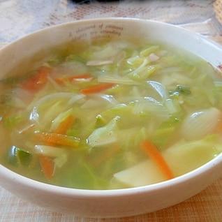 野菜たっぷり鶏ガラスープ