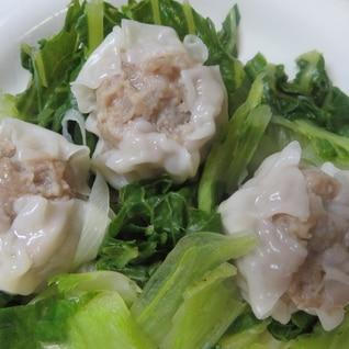 既製品のシュウマイと白菜で作る白菜シュウマイ