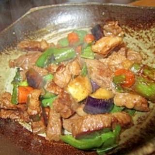 野菜ステーキ牡蠣油醤油焼き
