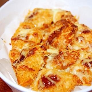チキンカツのチーズ焼き