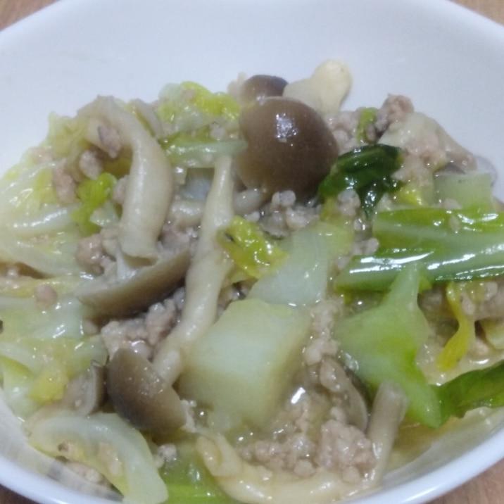 挽肉とキャベツの味噌炒め