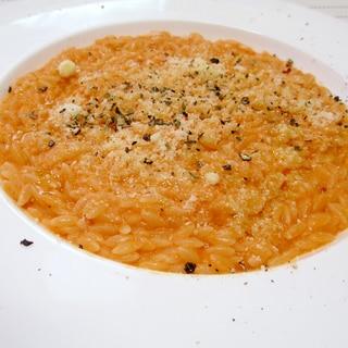 実はパスタ☆トマトクリームのリゾーニ