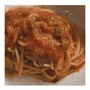 和風トマトソースのスパゲッティ