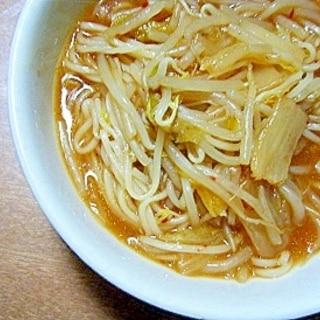 コンソメ醤油キムチにゅうめん★