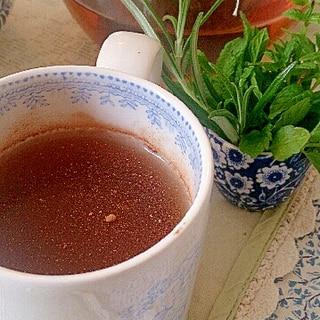 いちご、ミント、シナモンの烏龍茶