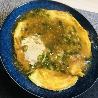 豆腐のふわふわカニ玉あんかけ♡