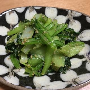 簡単副菜!小松菜のナムル【ビビンバの具材にも】