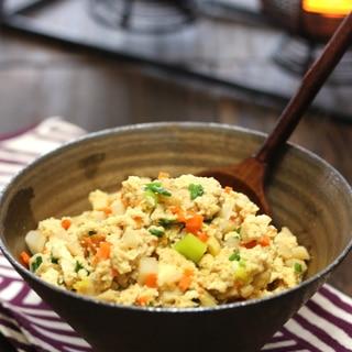 【基本の和食】具だくさん・炒り豆腐。