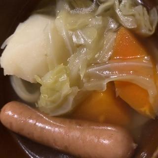 圧力鍋でゴロゴロ野菜のポトフ