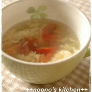 簡単★トマトとセロリの卵スープ