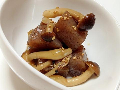 蒟蒻とシメジの甘辛柚子胡椒煮
