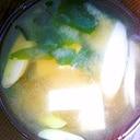 【今日の一汁】豆腐と長ねぎとわかめのお味噌汁