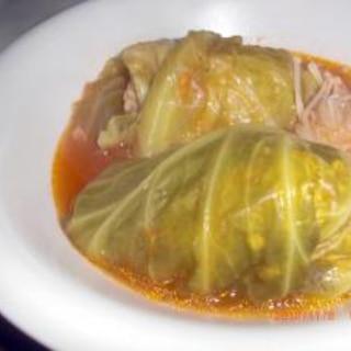 玉葱炒めなくていいんだよ、簡単ロールキャベツ。