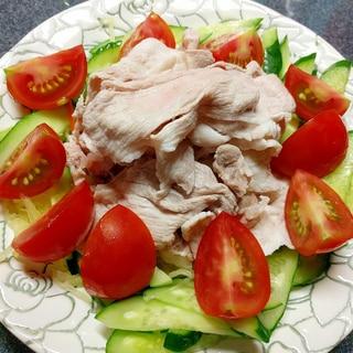 色合鮮やか♡夏野菜たっぷり!豚しゃぶサラダ♪