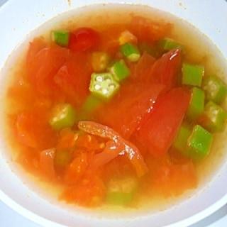 トマトオクラスープ