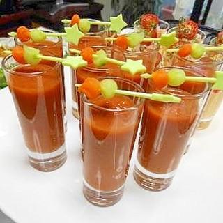 トマト缶で作る!オレンジ風味のガスパチョ