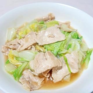 白菜と豚肉の中華風炒め★減塩・低カリウム志向