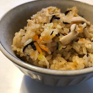 煮豚の残った煮汁リメイク*炊き込みご飯