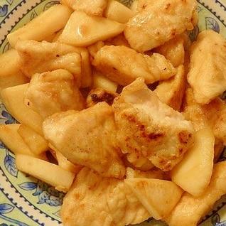 鶏むね肉と蕪の生姜焼き