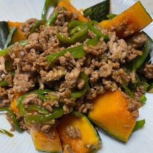 ご飯がすすむ☆挽き肉とかぼちゃの甘辛炒め