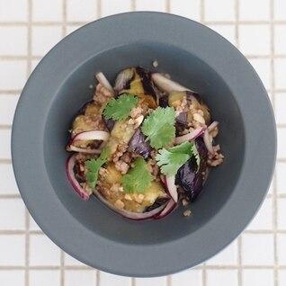 茄子とひき肉のアジア風サラダ