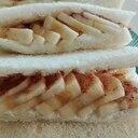 ヨーグルトを使ったバナナとシナモンのフルーツサンド