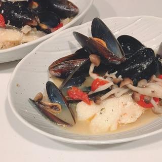 コストコムール貝で簡単アクアパッツァ