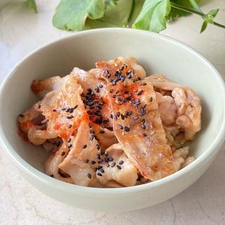 豚バラしゃぶ肉のオートミール豚丼