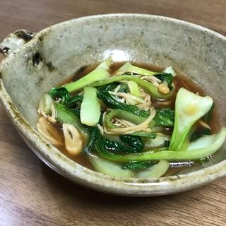 簡単中華 チンゲン菜とエノキのオイスターソース炒め