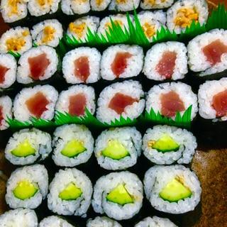 ★細巻き寿司★納豆巻き+鉄火巻き+河童巻き