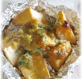 トースターで簡単!居酒屋の味~厚揚げのねぎ味噌焼き