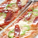 平らなお麩に具材を載せて焼く簡単ピザ