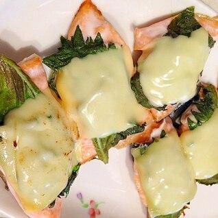 サーモンと大葉のチーズ焼き