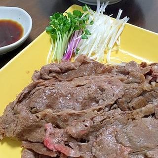 牛ロース薄切り肉であっさり焼肉
