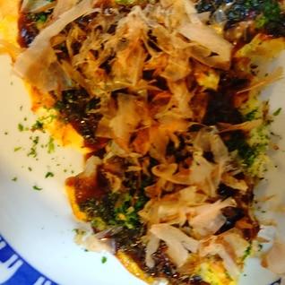 長芋と、シーチキンのお好み焼き