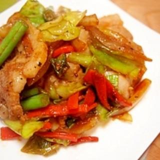 豚バラ肉と野菜のスタミナ焼き