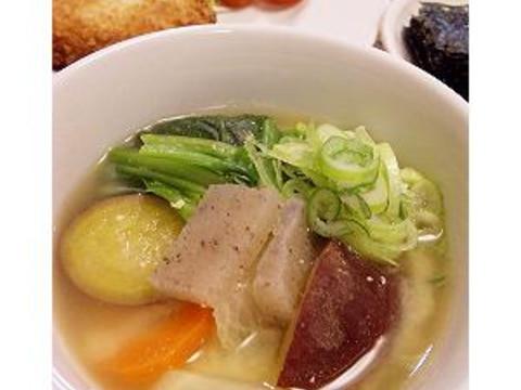 有機こんにゃくと有機野菜の豆乳味噌スープ
