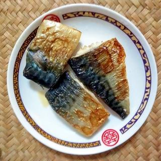 フライパンでふっくら鯖の塩焼き