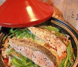 野菜たっぷり鮭の蒸し焼き