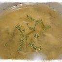 乾燥茎わかめと卵のコンソメスープ