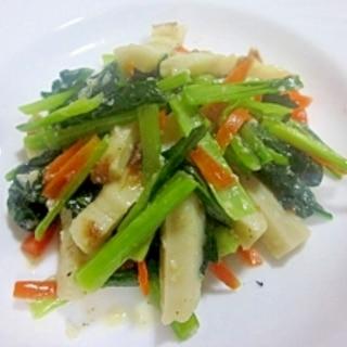 もう1品に~小松菜、ちくわ、人参の塩麹炒め