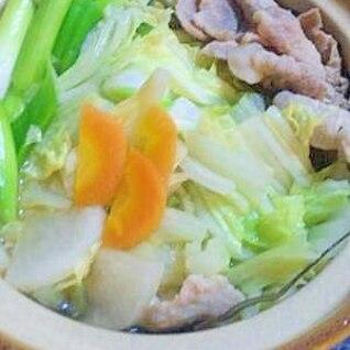 ヘルシー豚肉とたっぷり野菜の寄せ鍋