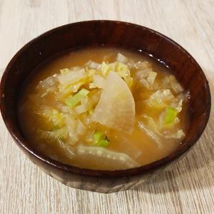 野菜たっぷり☆白菜と大根のお味噌汁