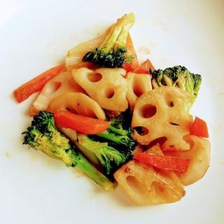 レンコンとブロッコリーの炒め物