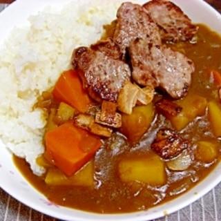 あと乗せお肉 de ジューシーカレー☆彡