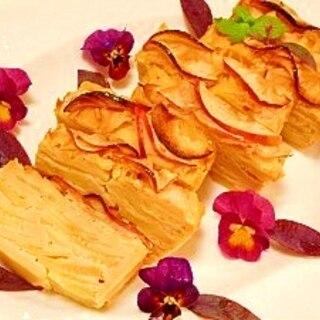 天ぷら粉で☆リンゴのミルフィーユ焼き