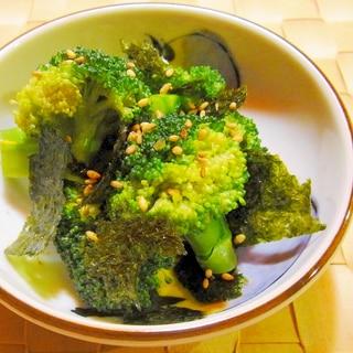 ブロッコリーの味付け海苔和え